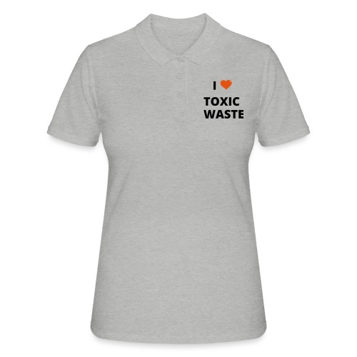 real genius i heart toxic waste - Women's Polo Shirt