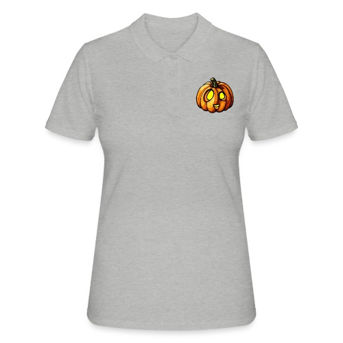 Pumpkin Halloween watercolor scribblesirii - Women's Polo Shirt