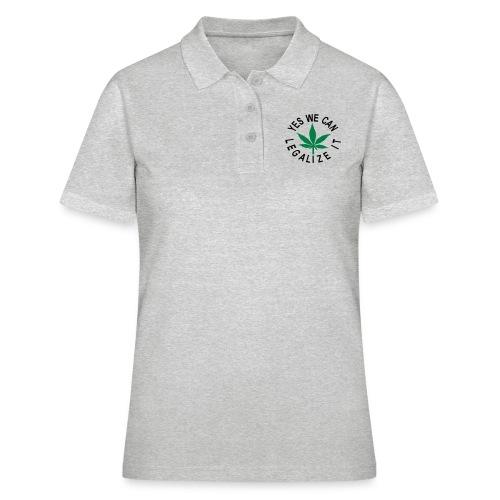 hanfblatt yes we can legalize it - Frauen Polo Shirt