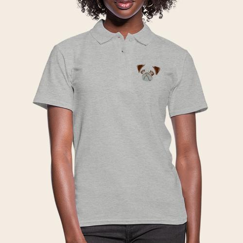 otiz mops kopf 2farbig - Frauen Polo Shirt