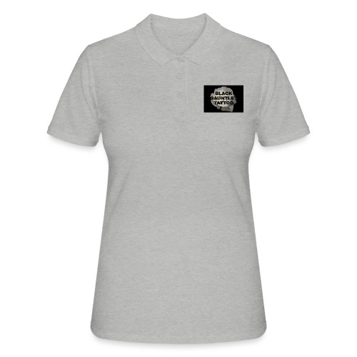 Black Gauntlet - White Rose - Women's Polo Shirt