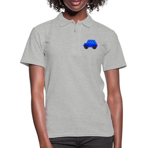 The Car Of Life - M01, Sacred Shapes, Blue/R01. - Women's Polo Shirt
