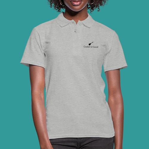Guitar is Good Logo With Text - Women's Polo Shirt