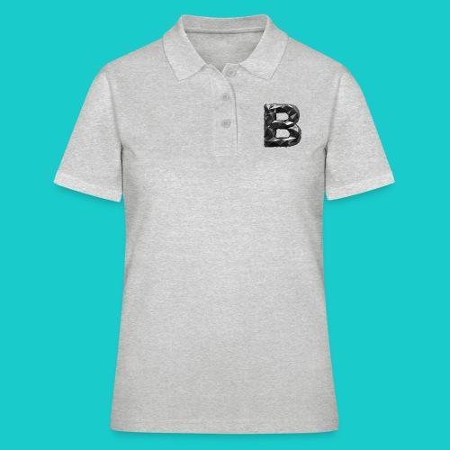 paper-melt-font-letter-B-1- - Women's Polo Shirt