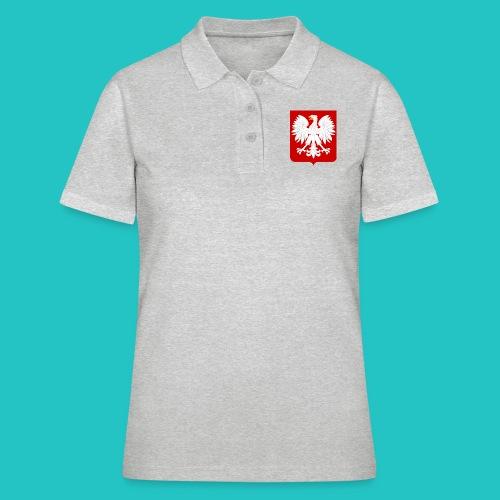 Koszulka z godłem Polski - Koszulka polo damska