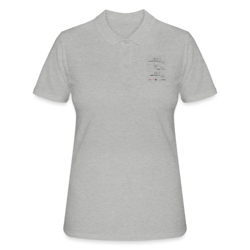 Formulas for calculating steps-per-mm (upturned). - Women's Polo Shirt