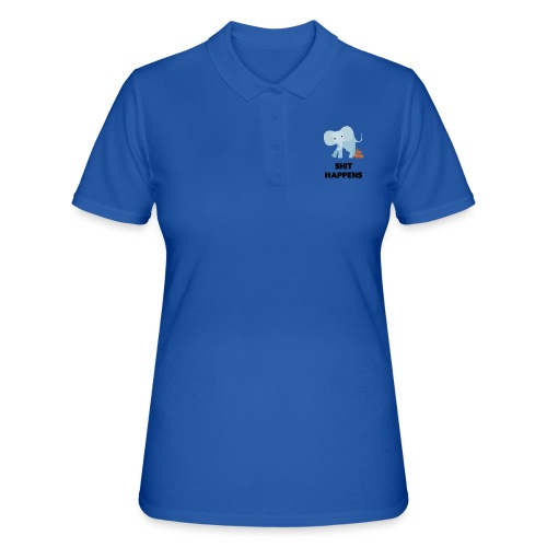 olifant met drol shit happens poep schaamte - Women's Polo Shirt
