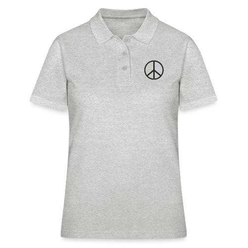 Símbolo de la paz negro - Camiseta polo mujer