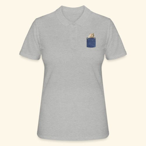 hamster in the poket - Women's Polo Shirt