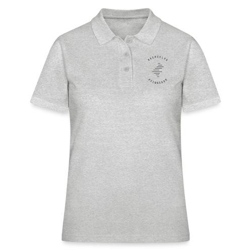 Akerselva kvinnekor svart logo - Poloskjorte for kvinner