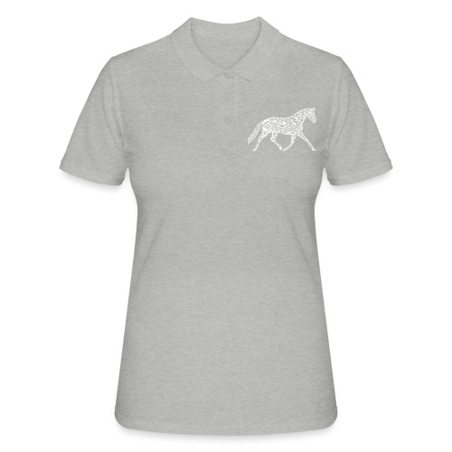 Körpertraining Logo schwarz - Frauen Polo Shirt