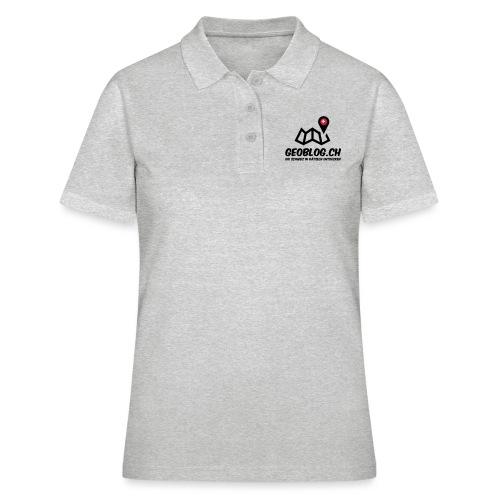 Logo+Schriftzug-hoch - Frauen Polo Shirt