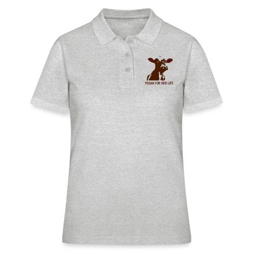 vegan for her life - Frauen Polo Shirt