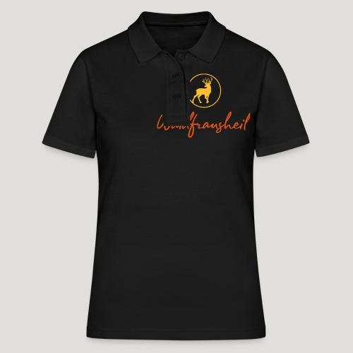 Waidfrausheil, ihr Jägerinnen! Jäger Shirt Jaeger - Frauen Polo Shirt