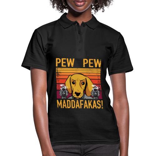 PEW PEW Maddafakas! Dackel Hund Vintage funny - Frauen Polo Shirt