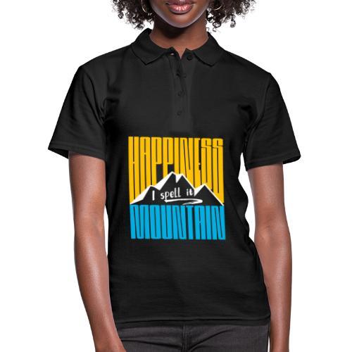 Happiness I spell it Mountain Outdoor Wandern Berg - Frauen Polo Shirt