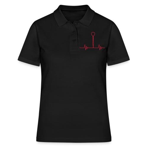 Puls Herzschlag Dart - Frauen Polo Shirt