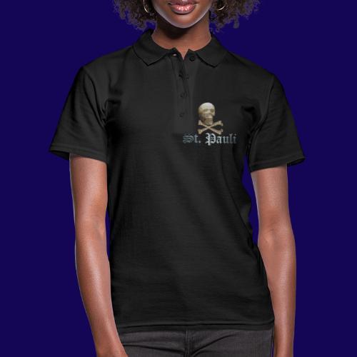 St. Pauli (Hamburg) Piraten Symbol mit Schädel - Frauen Polo Shirt