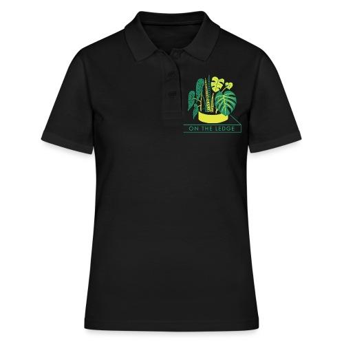 On The Ledge green logo print - Women's Polo Shirt