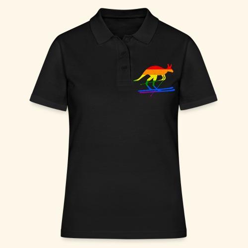 Skifahrer Känguru Ski Wintersport Regenbogenfahne - Frauen Polo Shirt