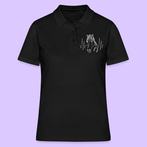 Pferd Pferde Tier Tiere Herzschlag Hufeisen Reiter - Frauen Polo Shirt