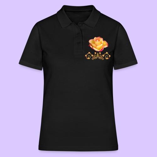 orange Rose, Ornament, Rosen, Blumen, Blüten, edel - Frauen Polo Shirt