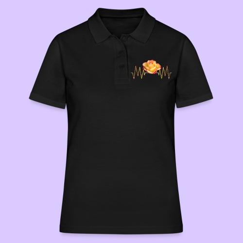 Rose, Herzschlag, Rosen, Blume, Herz, Frequenz - Frauen Polo Shirt