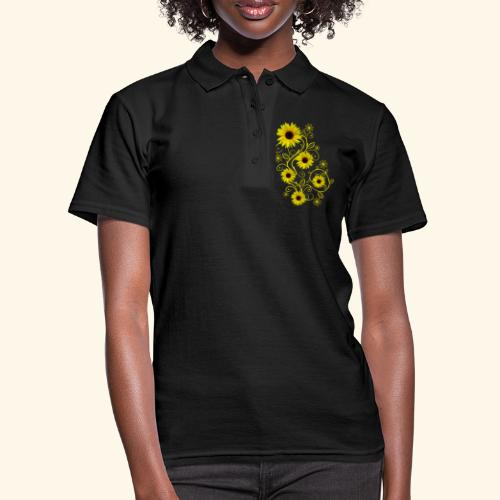 gelbe Sonnenblumen, Ornamente, Sonnenblume, Blumen - Frauen Polo Shirt