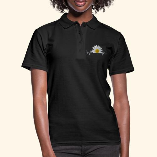 Margerite, Herzschlag, Gänseblümchen, Pulsschlag - Frauen Polo Shirt