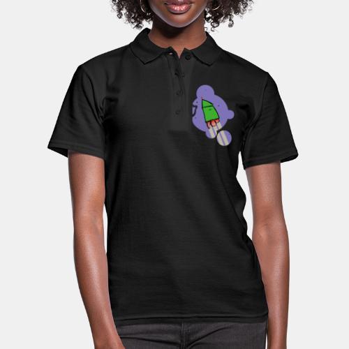 Cohete camiseta pantone - Camiseta polo mujer