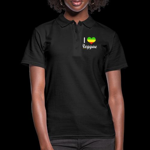 I LOVE Reggae - Frauen Polo Shirt