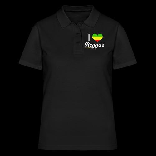 I LOVE Reggae - Frauen Polo Shirt