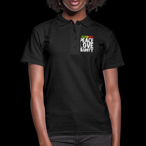 RASTAFARI - PEACE LOVE & UNITY - Frauen Polo Shirt