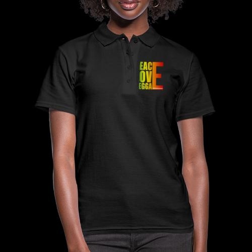 PEACE LOVE REGGAE - Frauen Polo Shirt