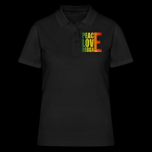 PEACE LOVE REGGAE - Frauen Polo Shirt