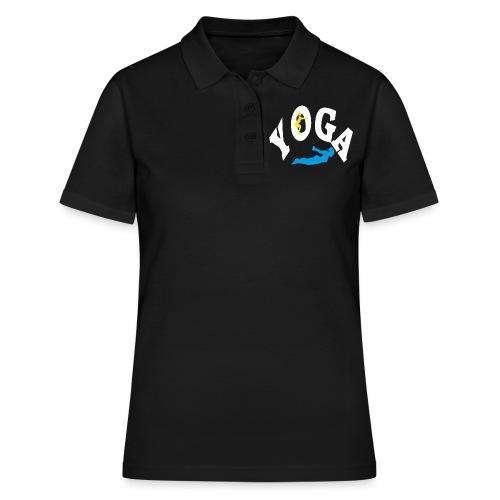 Yoga Schriftzug mit Posen Körperspannung Geschenk - Frauen Polo Shirt