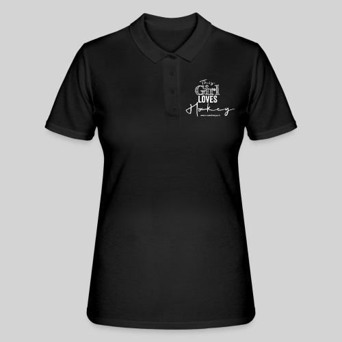 This Girl loves Hockey (white) - Frauen Polo Shirt