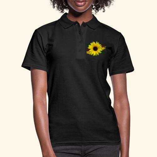 Sonnenblume, Sonnenblumen, Blume, floral, blumig - Frauen Polo Shirt