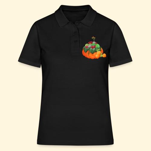 Bouquet d'automne : Succulentes et citrouille - Women's Polo Shirt