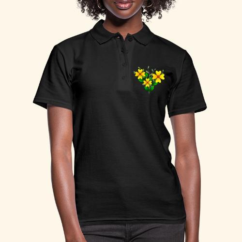 Blumenstrauß mit gelben Blumen, floral, Blüten - Frauen Polo Shirt