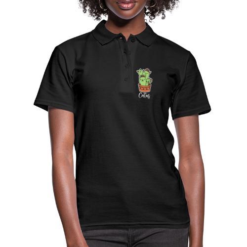 Catus Pflanze oder Tier Katze Kaktus lustig - Frauen Polo Shirt