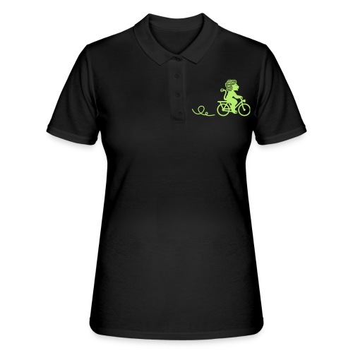 Züri-Leu beim Velofahren ohne Text - Frauen Polo Shirt