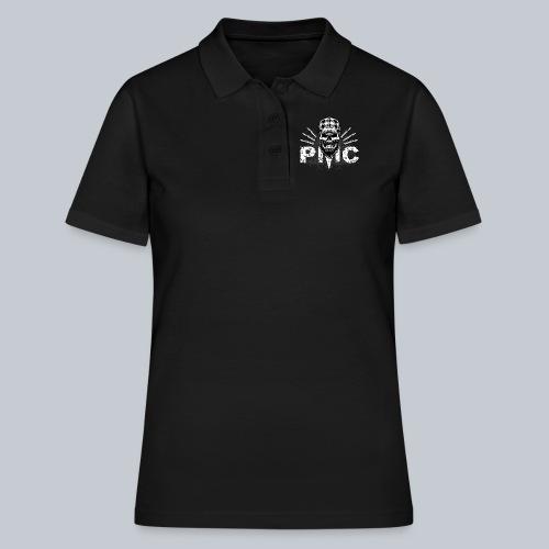 PMC Skull white - Frauen Polo Shirt