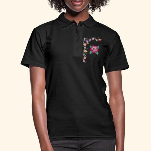 Blumenranke, Blumen, Blüten, floral, blumig, bunt - Frauen Polo Shirt