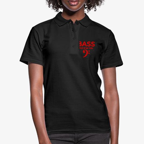 BASS Forget all your trebles (Vintage/Rot) - Frauen Polo Shirt