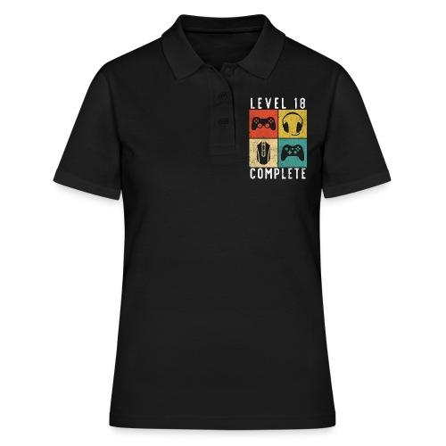 18. Geburtstag Level Complete Gaming - Frauen Polo Shirt