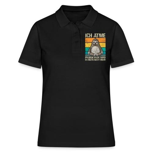 Lustiges Faultier Spruch Geschenk - Frauen Polo Shirt