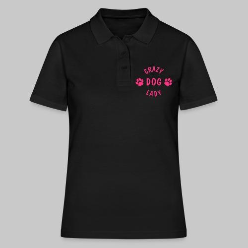 crazy dog lady - Frauen Polo Shirt