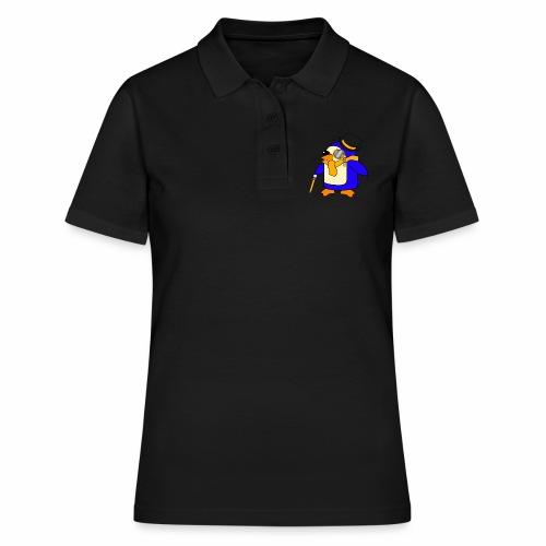 Cute Posh Sunny Yellow Penguin - Women's Polo Shirt