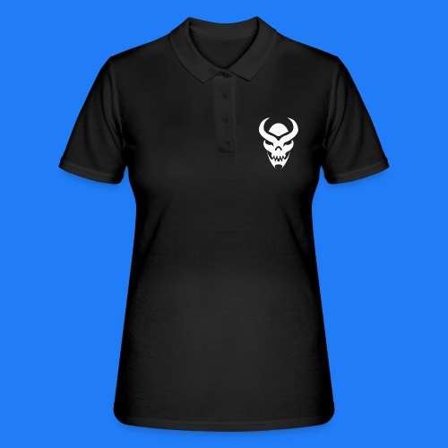 TRIBAL SKULL BLANC - Women's Polo Shirt
